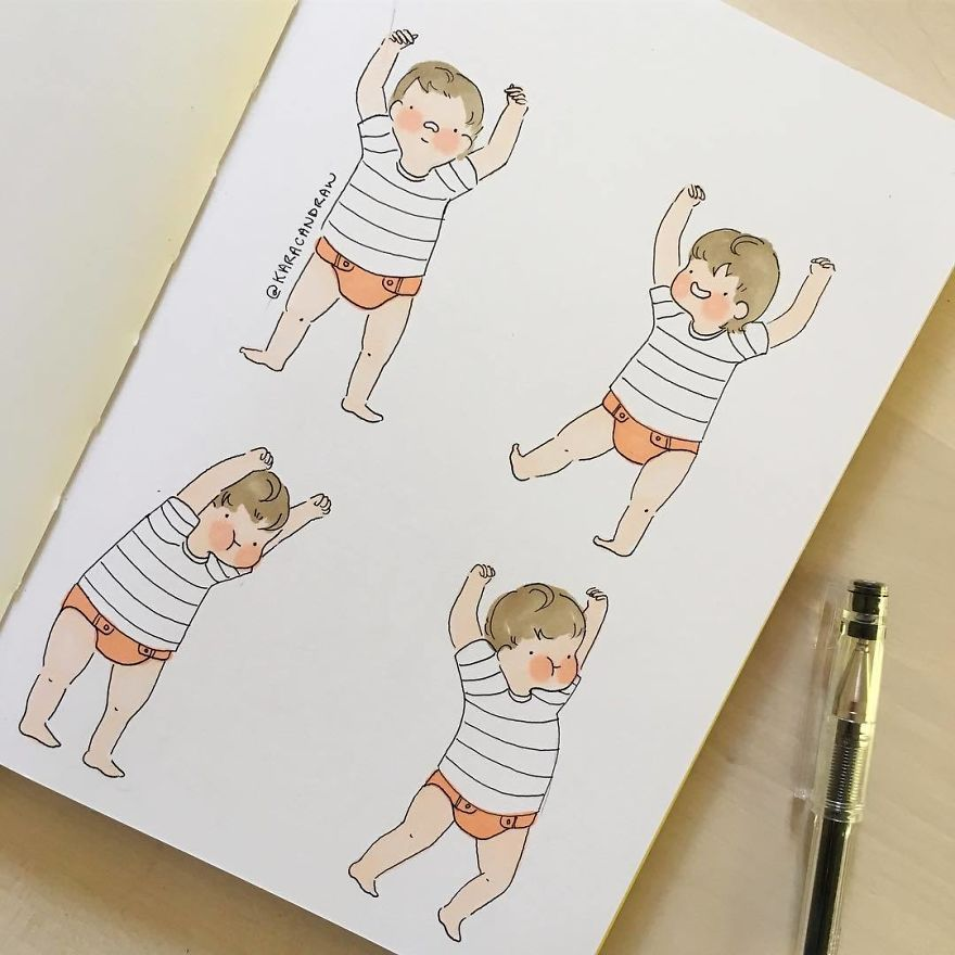 Quick Study Of Wobbly Baby Trying To Master Walking