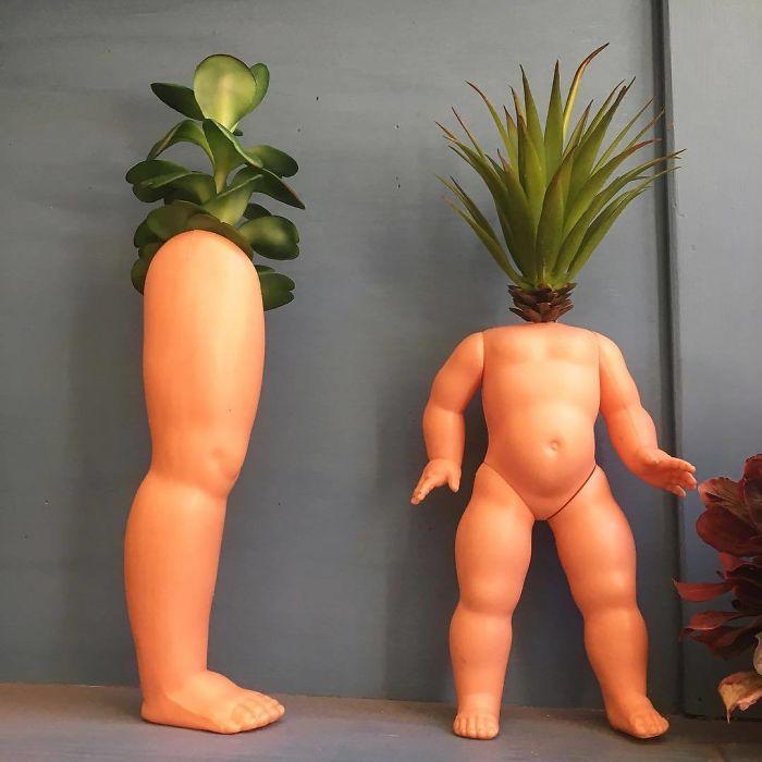Creepy-Baby-Doll-Head-Planters