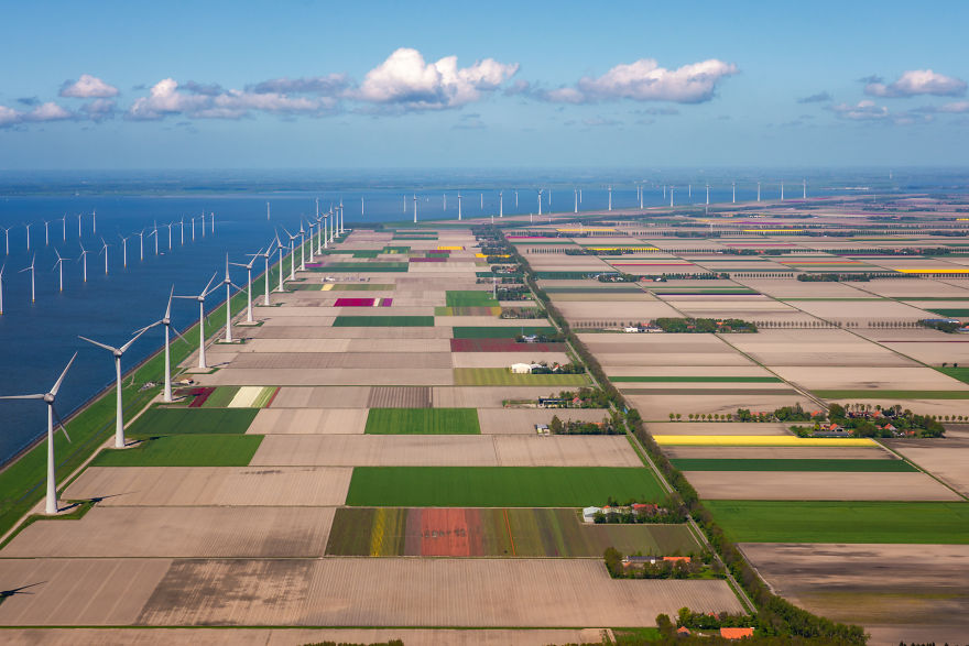 Seeing The Flowers From The Sky Looks Like A Videogame. This Is Mainly Because Of The Dutch Landscape In General Which Consists Of Perfect Straight Lines