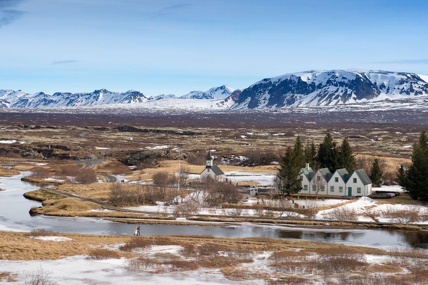The View From The Þingvellir National Park