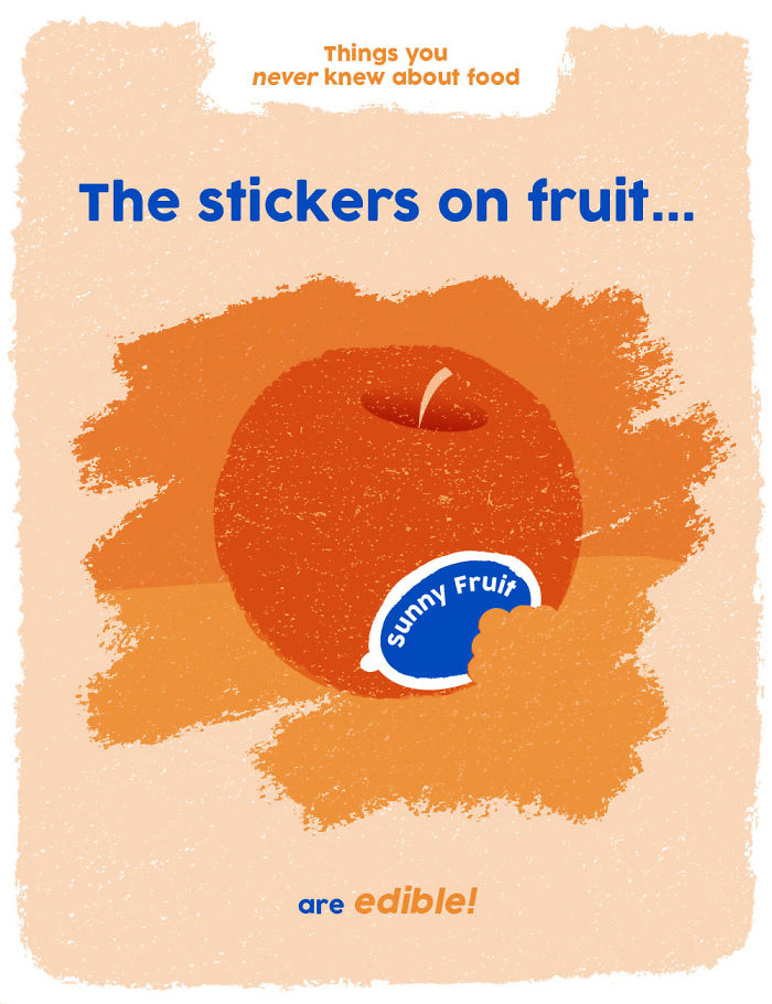 Fruit Stickers Are Edible!