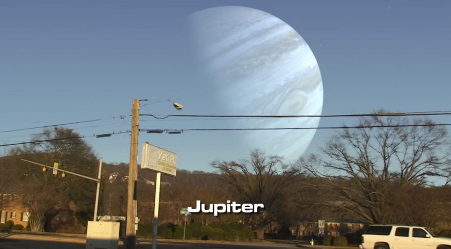 What If Other Planets Appeared Instead Of The Moon