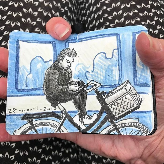 I Drew Other Passengers On The Ndsm Ferry In Amsterdam And Made The Sketchbook Into A Movie