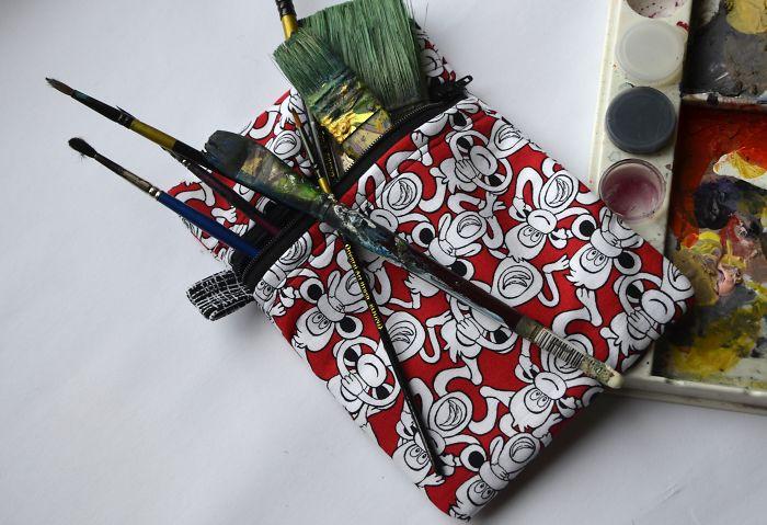 I Create One Of A Kind Artist Equipment Using Repurposed Fabrics
