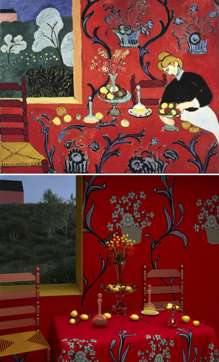 The Dessert: Harmony In Red By Henri Matisse