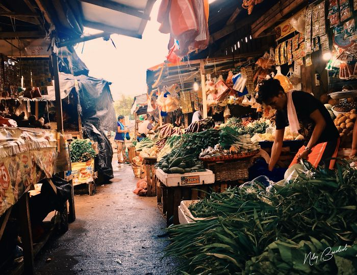 I Took Early Morning Pictures Of Intimate Market Scene In Philippines Using My Iphone