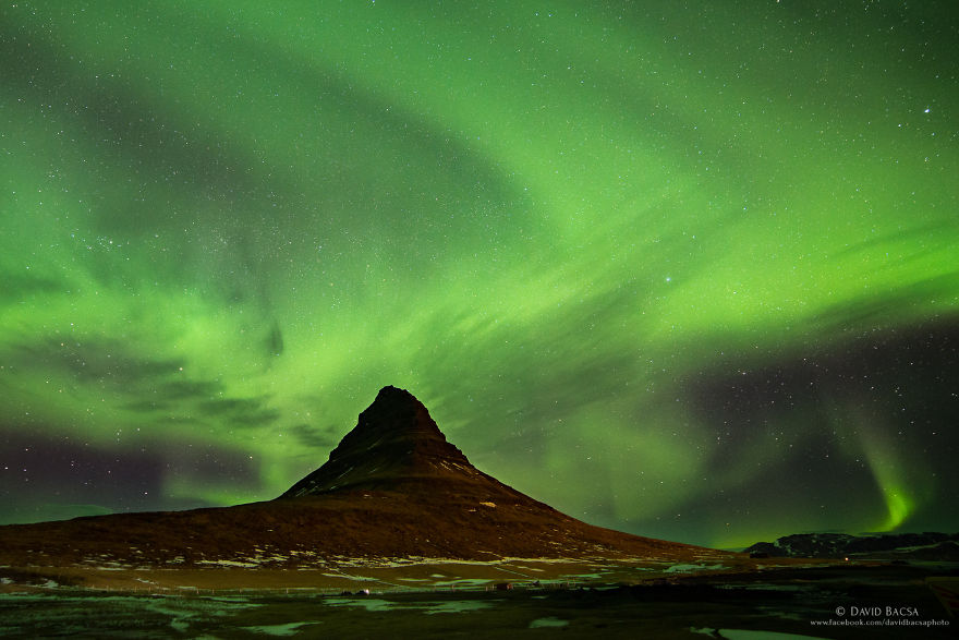 Kirkjufell With Northen Lights