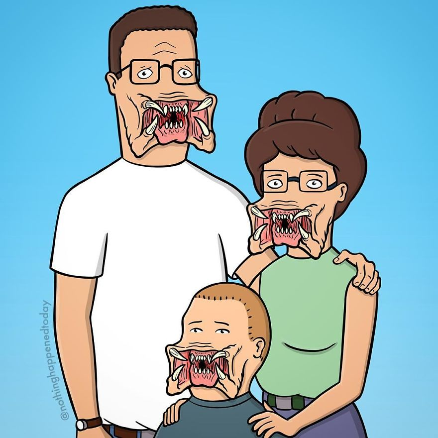 Illustrator Imagine The Secret Life Of The Cartoon Characters And The Result Is Very Funny