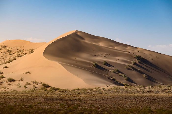 One Of Many Nature's Wonders – A Singing Sand Dune In The South Of Kazakhstan