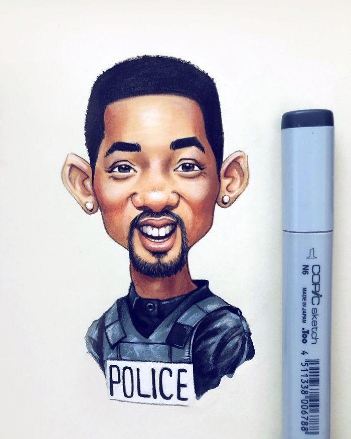 Russian-Artist-Draws-New-Portraits-Cartoons-Of-Celebrities