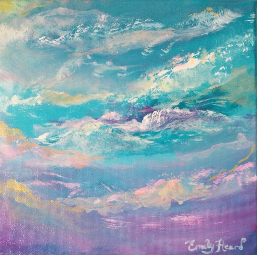 Pearlised Paintings To Show The Beauty Of The Sky