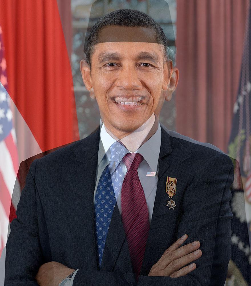 Foto Obama dan Jokowi