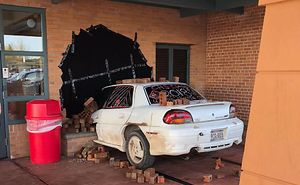 School Principal Is Shocked After Finding A Car Crashed To A School Wall But It's Not What You'd Expect