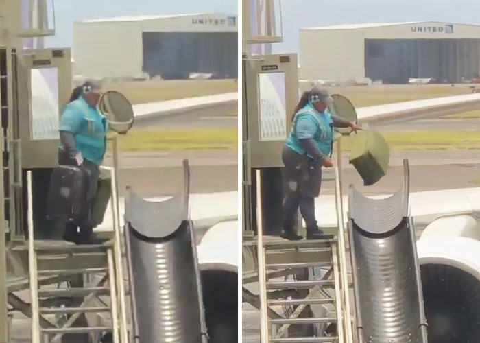 Airline Passenger Films How Terribly They Handle Luggage, And It Escalates Quickly