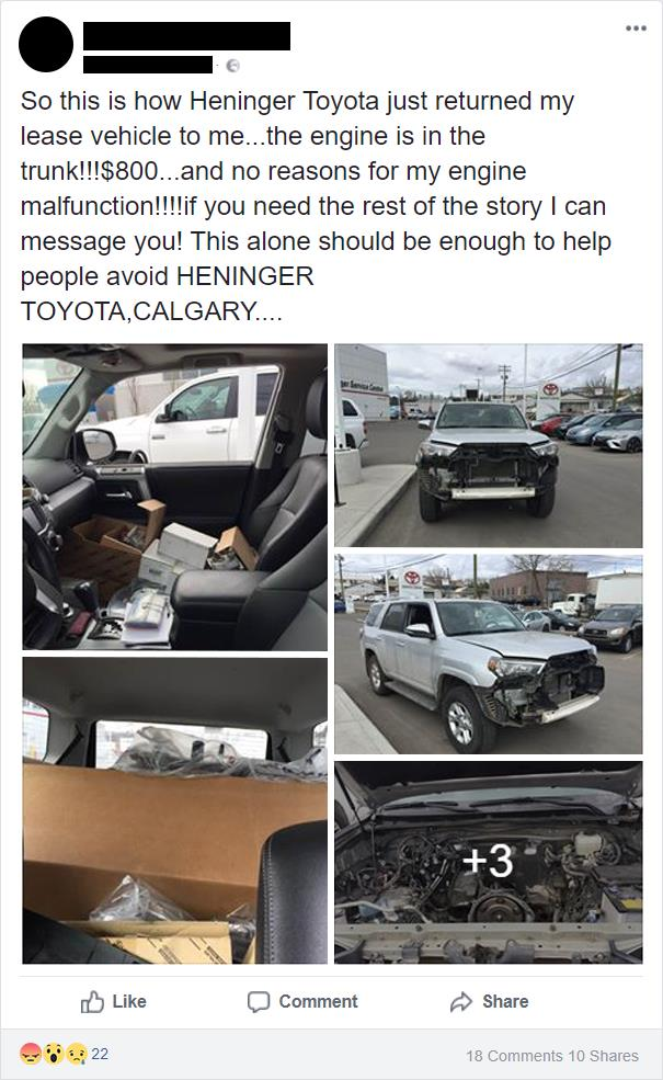 Woman Slams Toyota Dealership For Charging $800 And Destroying Her Car, So Toyota Shares What Really Happened 1