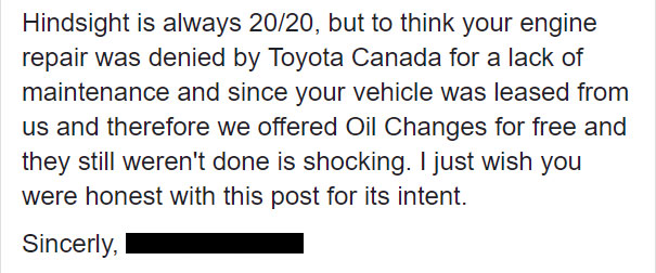 Woman Slams Toyota Dealership For Charging $800 And Destroying Her Car, So Toyota Shares What Really Happened 14
