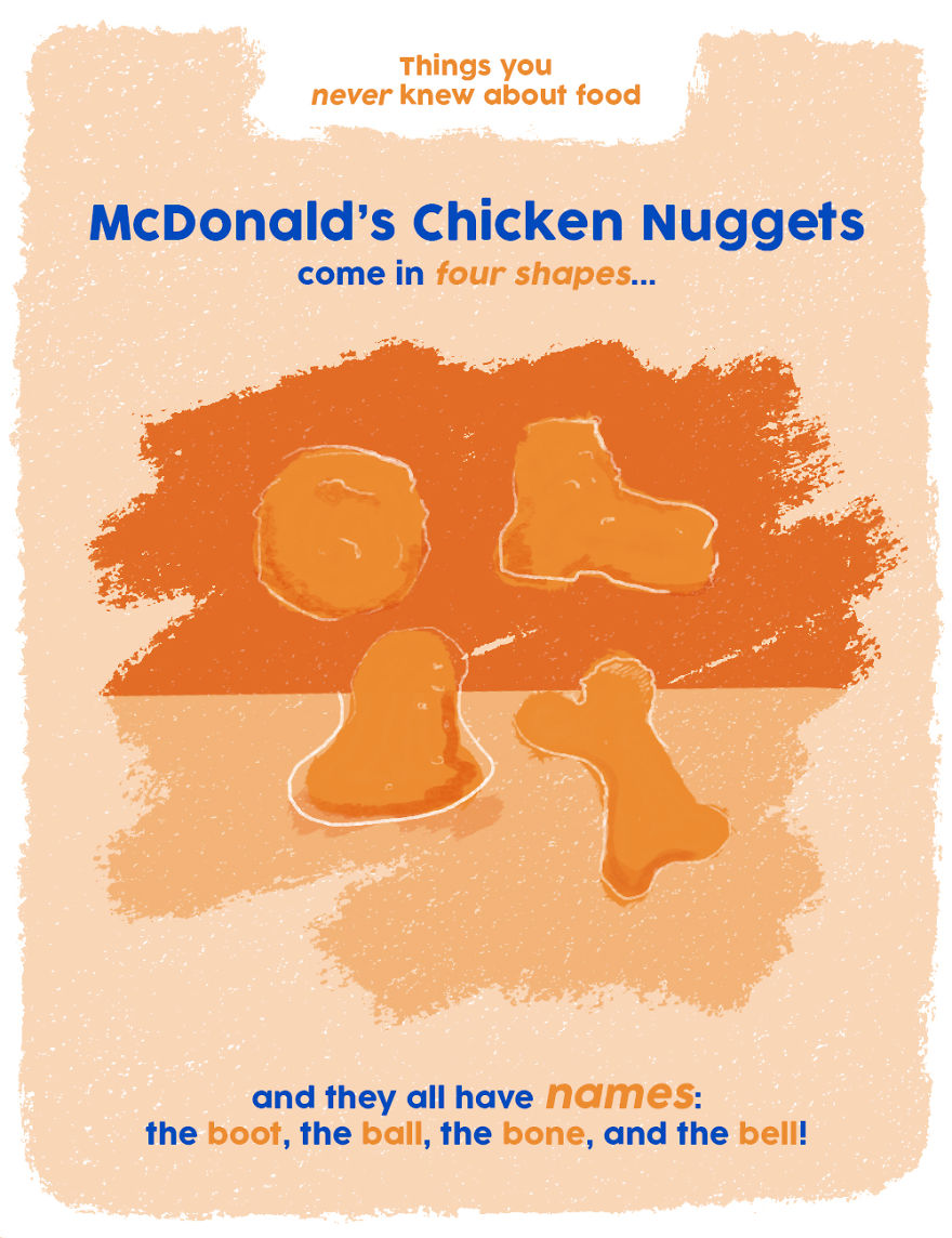 Mcnuggets Always Come In Four Different Shapes!