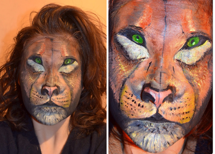 I Painted Myself As A Lion