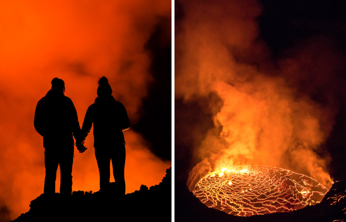 I Spent The Night At The Top Of An Active Volcano In DR Congo, Capturing The Boiling Lava Lake