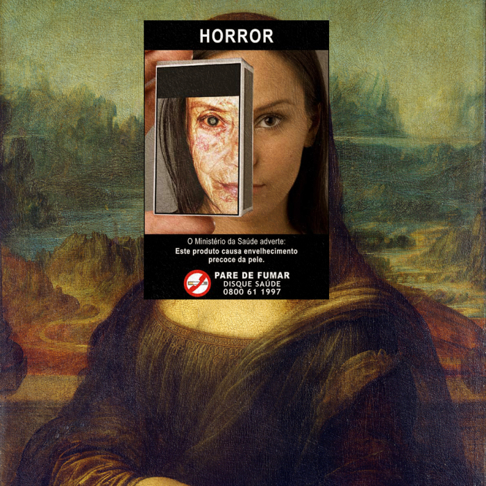 I Do Collages Of Cigarette Health Warnings And Classical Paintings
