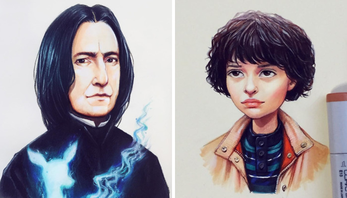 Russian Artist Continues Drawing Celebrities As Adorable Cartoon Characters