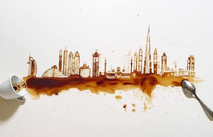 Coffee And Tea Turned Into Beautiful Art By Giulia Bernardelli