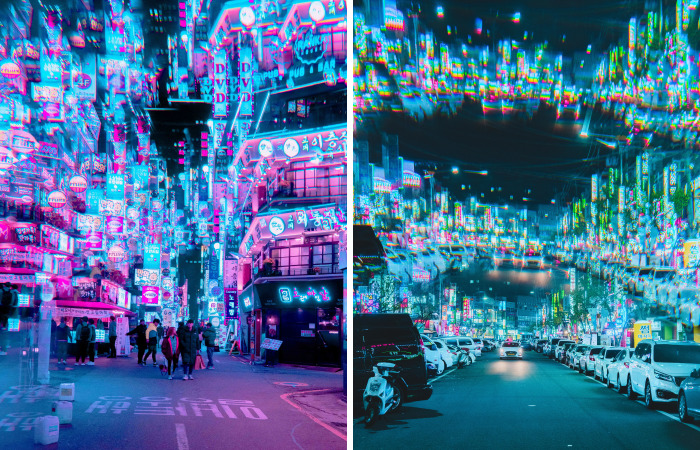 I Used Light Prisms To Capture Neon Dreams In Seoul