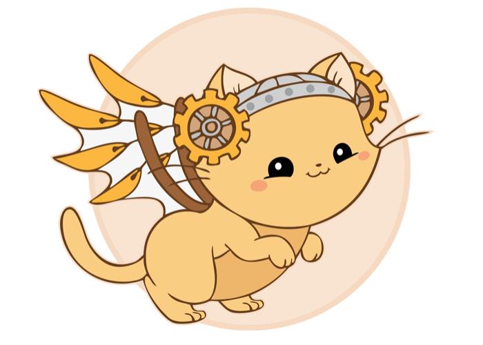 Steampunk Zodiac Kitties