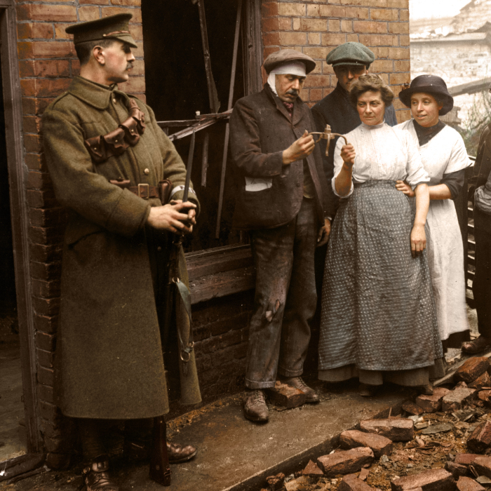 I've Colourised These Photos Of England's 'First Blitz' Over 100 Years Ago