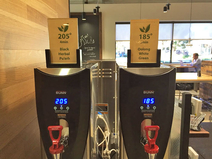 This Café Has Two Hot Water Dispensers With Different Temperatures To Suit Different Teas