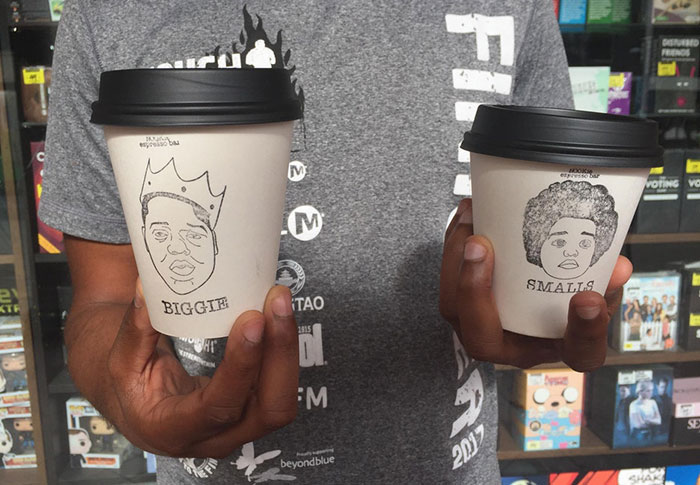 This Coffee Shop Has 2 Cup Sizes: Biggie And Smalls