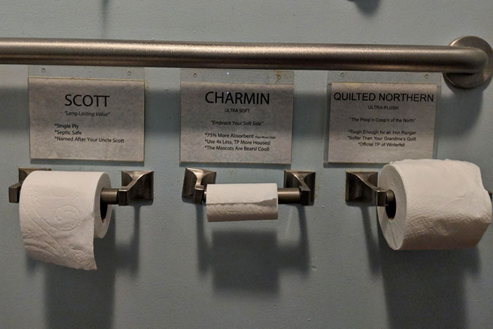 My Local Coffee Shop Lets You Choose Between 3 Types Of Toilet Paper