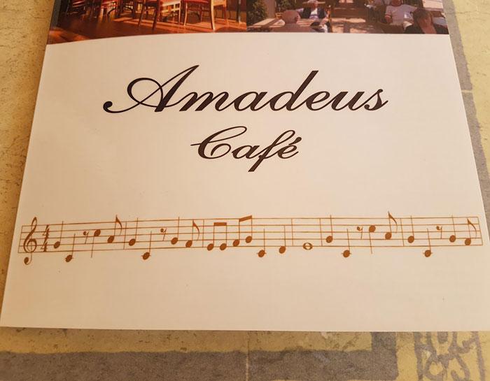 This Café Has The Flintstones Theme In Sheet On The Menu