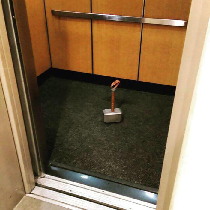 Este ascensor es digno
