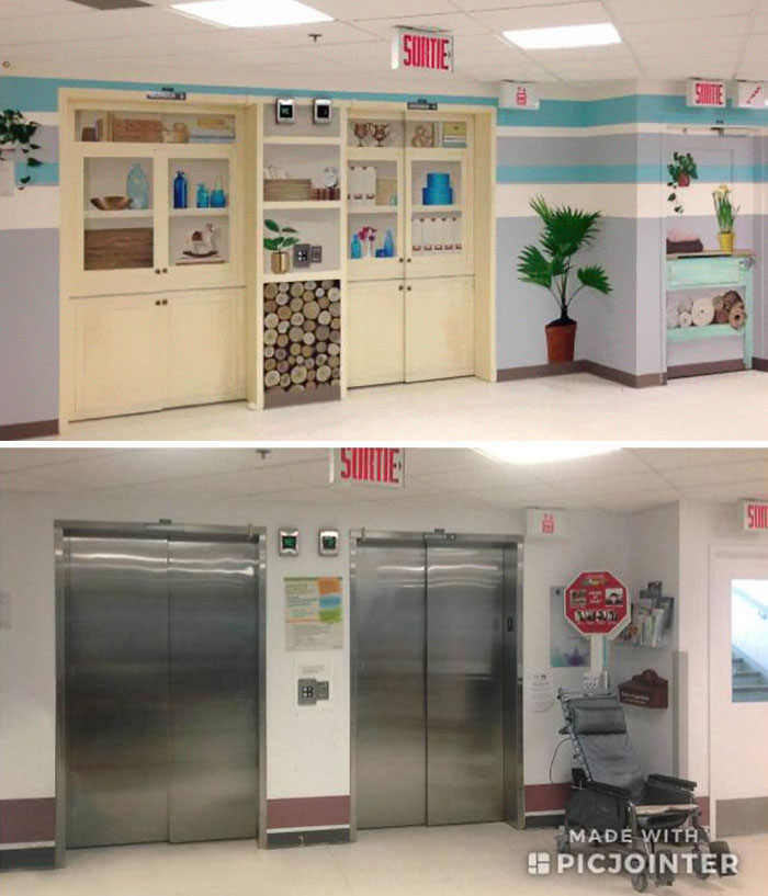 This Centre For Long Term Ill Elders Redesigned Their Elevators To Create Less Anxiety And Avoid Patients Running Away