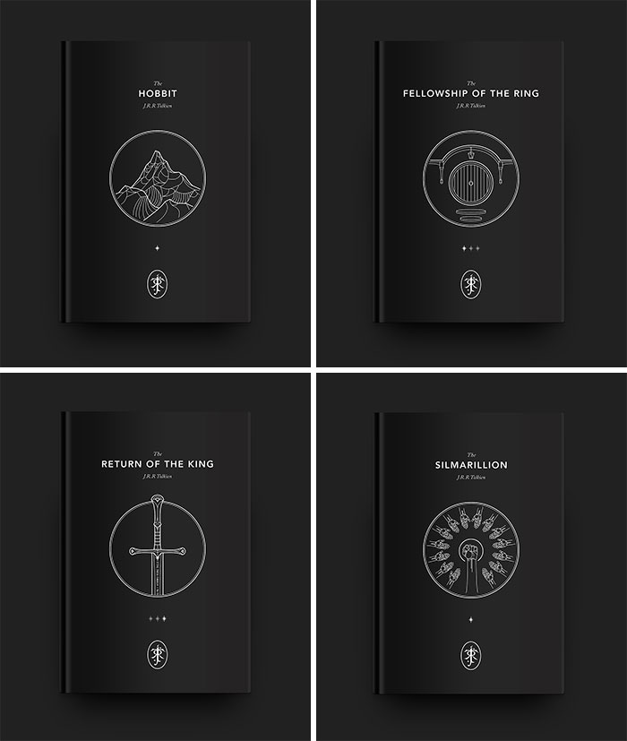 Tolkien Minimalist Book Covers I Created