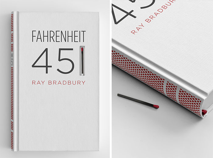 Ray Bradbury's 'Fahrenheit 451' Bound With Striking Paper And A Match