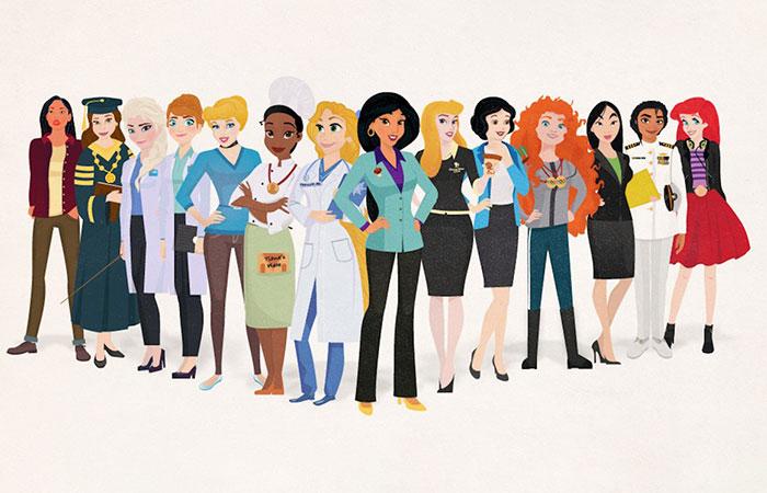 14 Princesas Disney reimaginadas como jefazas