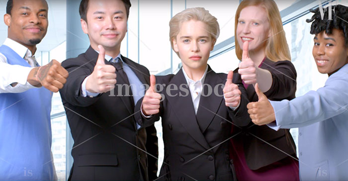 Emilia Clarke Tries Her Hand At Stock Photography, And The Result Is So Funny The Internet Wants Her To Star In 'The Office'