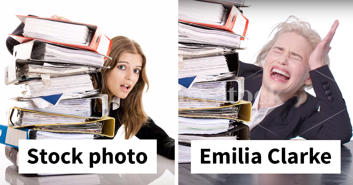 Emilia Clarke Tries Her Hand At Stock Photography, And The Result Is Too Funny