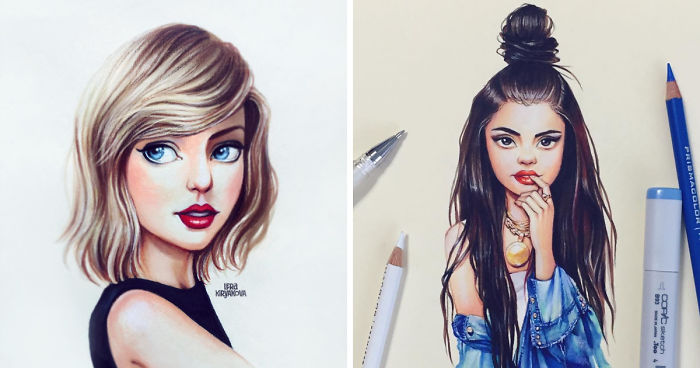 Russian Artist Continues Drawing Celebrities As Adorable Cartoon
