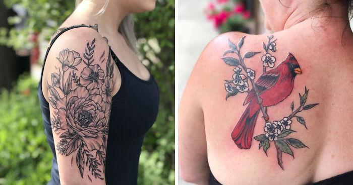 Central New York S Favorite Botanical Tattoo Artist Creates
