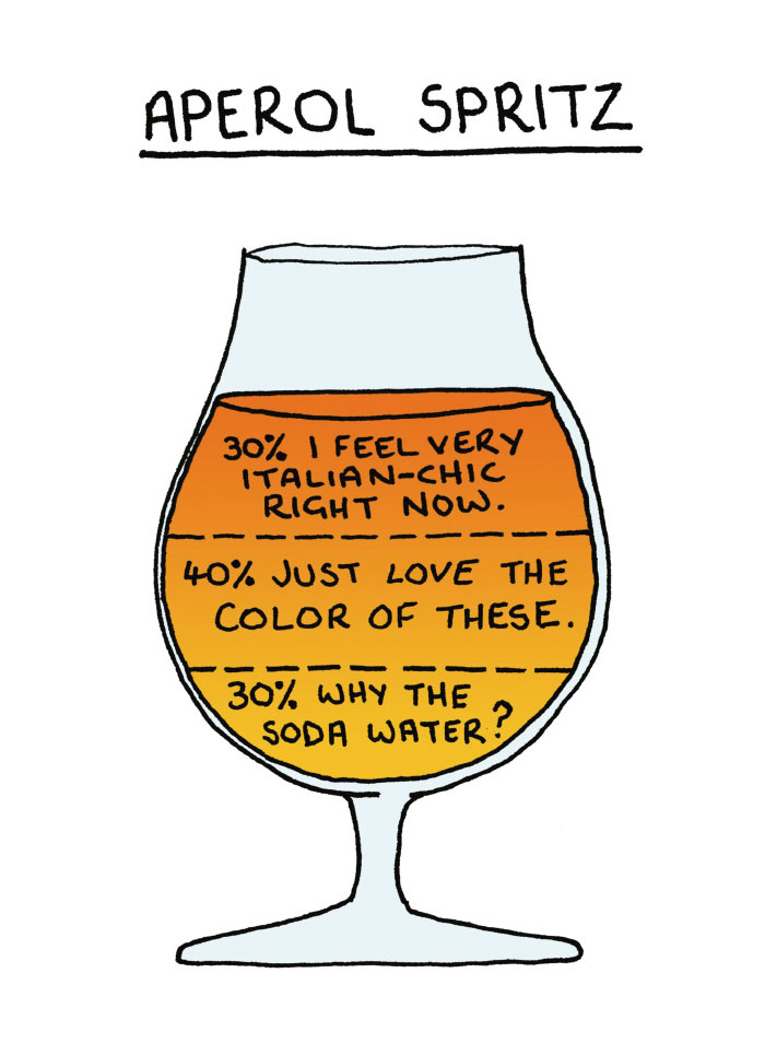 Illustrator Reveals What Your Drink Says About You In 9