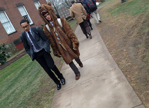 My School Requires A Full Suit And Tie Dress Code. However A Coat Is Allowed In The Winter