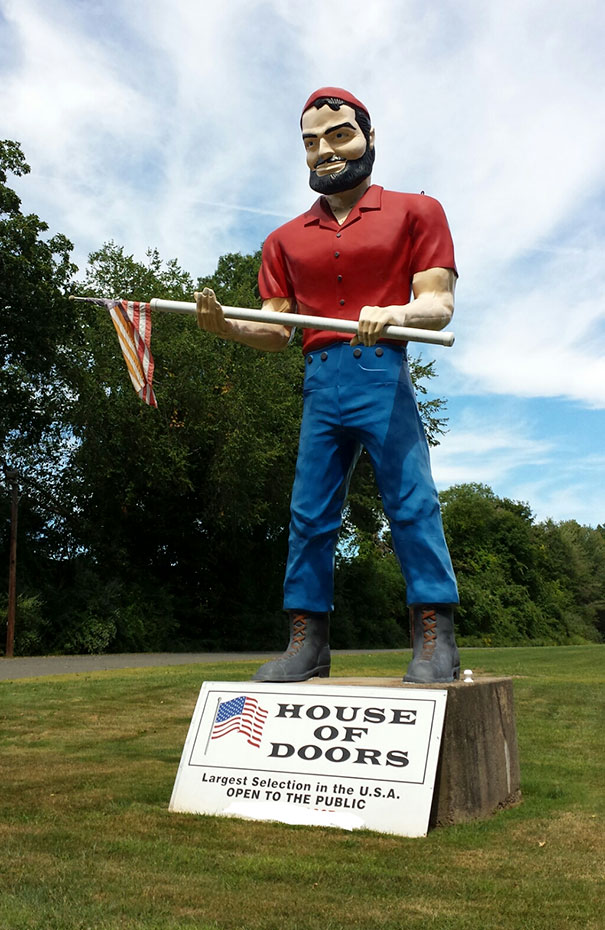 The Town Won't Allow Them To Keep A Statue Near The Road, But They Can't Do Anything About A Flagpole