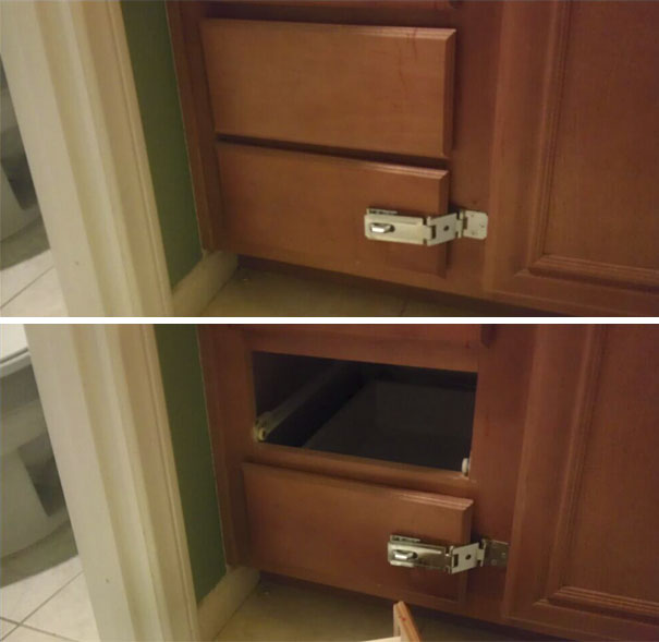 I'll Never Forget The Time That My Mom Installed This Lock In One Of Her Bathroom Drawers When I Was A Kid So She Could Hide My Phone Or Whatever Inside Of It When I Misbehaved. If Only She Thought Before She Installed It