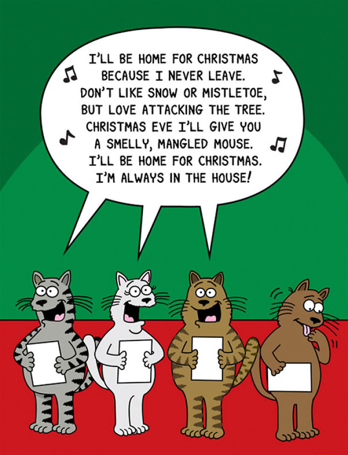 Image result for cat comics christmas