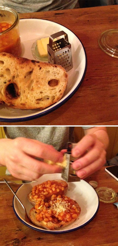 La tostada con judías más hipster que haya visto