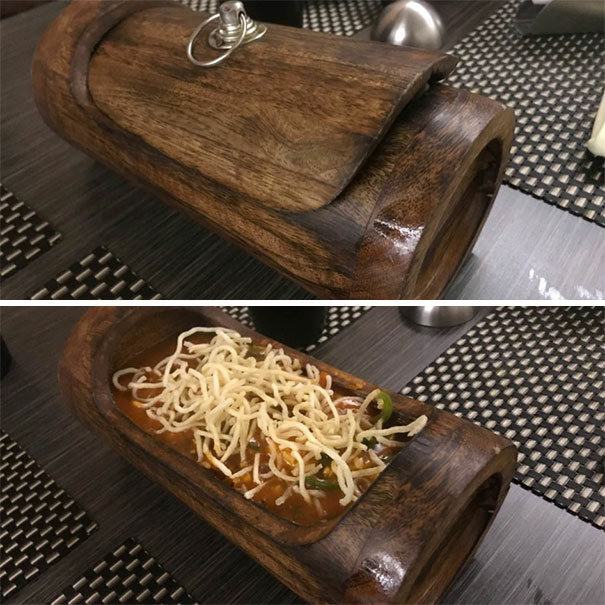 Of Course I Want To Eat My Noodles From A Log. Silly Bowls And Plate Eaters I Tell You