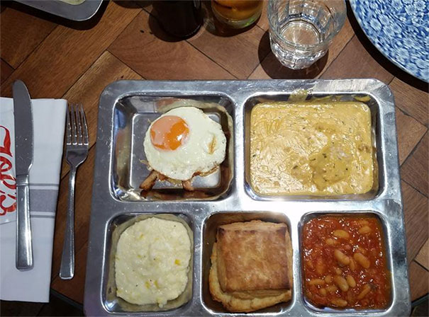Breakfast On A Tray. Am I In Jail?